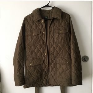 J. Crew Quilted and Belted Down Jacket Sz Small